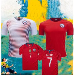 2018 Chile National Team Soccer Jersey 18 19  7 ALEXIS  10 VALDIVIA  CHAMPIONS Home Red Away white Football Shirt uniform Free shipping 94417dfe3
