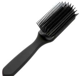 Tips For Black Hair Australia - High Quality Professional Pomade Styling Hair Brush 9 Line Teeth Antistatic Hairdressing Brush For Hair Comb In Ball Tip Black