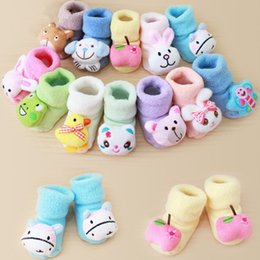 baby shoes china 2019 - China Wholesales Baby Socks Shoes Autumn Winter Warm Thick Cotton Infant Kids Socks Cute Cartoon Toddler Floor Socks Boo