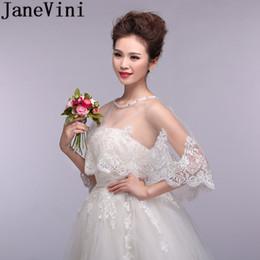 lace cape crochet 2019 - JaneVini New Ivory Bridal Cape For Wedding Dress Beaded Bride Bolero Lace Wedding Jackets Wraps For Bride Shrug Bolero S