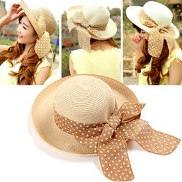 $enCountryForm.capitalKeyWord UK - New Fashion Summer Casual Women Ladies Wide Brim Beach Sun Hat Elegant Straw Floppy Bohemia Cap For Women Dating Cheap