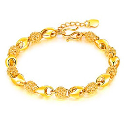 Plates Gift Europe NZ - Europe American New arrival women fashion jewelry flower 24K gold plated Bracelets link chain lover gift Chiristmas Valentine's day