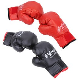 Discount kids kick boxing - 1 Pair Kids Children Boxing Gloves Sparring Kick Fight Gloves Training Fists PU Leather Muay Sandbag MMA Boxing Glove Fi