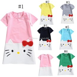 6366cfd64 Kitty dresses online shopping - New baby girls Kitty princess dress summer  kids cartoon KT Dresses