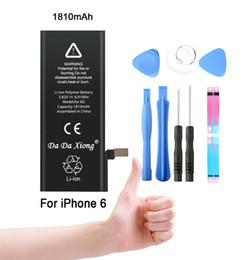 100% original marca real capacidade 1810 mah genuíno li-ion acessório do telefone móvel bateria de substituição para iphone 6 6g 7 8x xs max em Promoção