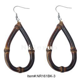 acf9a32e4c fashion carbonized black bamboo root drop earrings