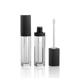 $enCountryForm.capitalKeyWord UK - New Lip Gloss Tube Empty Bottle Lip Gloss Container Makeup Lip Oil Container Plastic Square Lips Gloss Tube with Brush