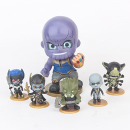 wholesale plastic figures Australia - 6pcs set Avengers 3 Infinity War Plastic Doll toys 5-9cm New kids avenger Cartoon Thanos Corvus Glaive Ebony Maw Figure Toy B