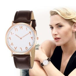 Wholesale FUNIQUE Unisex Arab Numbers Scale Simple Ultra Thin Watches Men Women Fashion Leather Quartz Watch Lovers Wrist Watch Clock