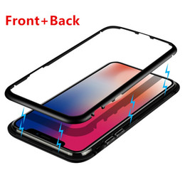$enCountryForm.capitalKeyWord NZ - New Fashion Iphone x xs max xr case Metal Anti-Shock proof Magnetism phone case for iPhone 6 6s 7 8 plus 9H Tempered Glass back Hard Case