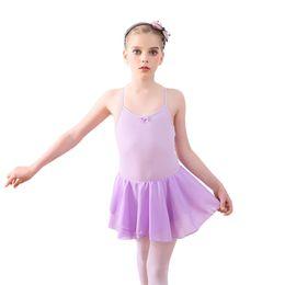 Tutu For Ballerinas Australia - New Arrival Gymnastics Leotard For Girls Ballet Dress Spaghetti Strap Girls Ballerina Class Dancewear Sleeveless Tutu Dance Wear
