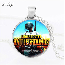$enCountryForm.capitalKeyWord NZ - SUTEYI Newest Cut Games Pictiure Stateement Necklace Winner Winner Chicken Dinner Round Glass Cabochon Mens Pendant Necklaces Jewelry Bijoux