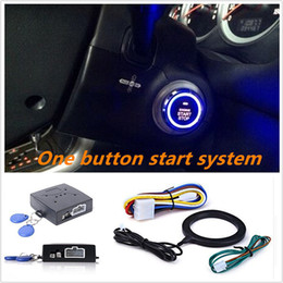 car starting system Canada - Auto Car Alarm Engine Star line Push Button Start Stop Safe Lock Ignition Switch Keyless Entry Starter Anti-theft System 2 way