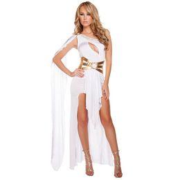 greek women costumes 2019 - Adult Women Costume Halloween Carnival Christmas Cosplay Costumes Fancy Dress Party Sexy Greek Goddess Long White Dress