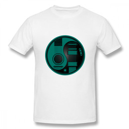 $enCountryForm.capitalKeyWord NZ - Classic O - Neck T Shirt Teal Blue And Black Acoustic Electric Guitars Yin Yang Tee Boy Hot Sale Unique For Male T Shirt
