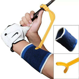 Wholesale golf swings for sale - Group buy Mini Portable Training Guide Gesture Alignment Aids For Golf Sports Practice Swing Wrist Correct Aids Practical And Light tx ZZ