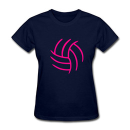 Chinese  T Shirt Printing Company O-Neck Short Volleyballer Outline Team Funny T Shirt For Women manufacturers
