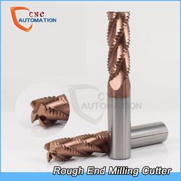 Coating Cnc Australia - Rough End Mill Corrugated blade tungsten steel alloy coating CNC tool Special open corn milling cutter