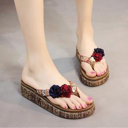 $enCountryForm.capitalKeyWord Canada - New 2018 Casual Shoes Women Sandals Sandalias Mujer Summer Style Fashion Flip Flops Good Quality Flats Flower Slippers