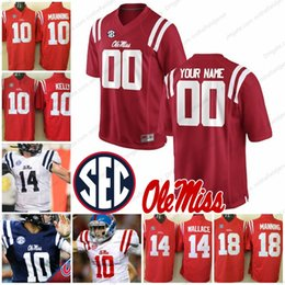 Custom Ole Miss Rebels Any Name Number Mens Youth Kids Womens Red White  Navy Blue Ta amu Manning Kelly College Football Jerseys S-3XL 8513d8963