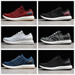 db7de6a54be94 High quality Pure Boost 2.0 Sports Shoes primeknit Men Women Pure boost  Running Shoes Trainer blace grey Sneaker Jogging shoes size 36-45