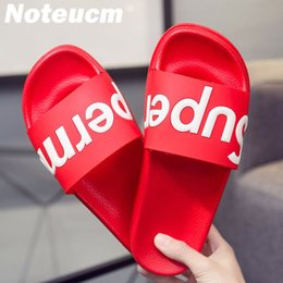 Size pool online shopping - Size summer green red female femme tong slider Cartoon dame huose Bedroom beach outside slipper flat pool shoe slide women