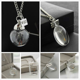 $enCountryForm.capitalKeyWord NZ - Real Dandelion Seed in a Wish teardrop Jewellery Silver Necklace pendant Make a Wish Necklace Glass Dome Dandelion Flower Charm Jewelry