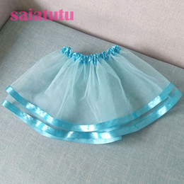 $enCountryForm.capitalKeyWord Australia - Summer Kids Baby party birthday princess Tulle Pettiskirt Children mini short Tutu girl Skirt Falda Vestido sky blue skirts NEW