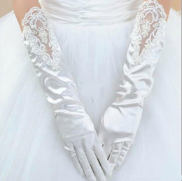 Discount Long Gardening Gloves 2017 Sexy Elegant Lace Beaded Cute Garden  Gloves For Long Length Dresses