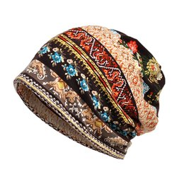 6483022dbdb89 Hats For Men Women Beanies Baggy Slouchy Beanie Chemo Thin Camouflage  Flower Hip Hop Beanies Hat Cap Infinity Mask Scarf