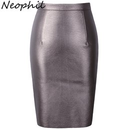 $enCountryForm.capitalKeyWord UK - Neophil Sexy Faux Fur Leather Pu High Waist Midi Women Pencil Skirts Pink Office Wrap Bodycon Short Girls Tutu Saia S08019 S916