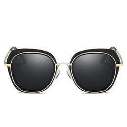 Discount black mirror polarized sunglasses - 2018 JOZQA Q8658 Sunglasses Polarized Sex Lady Sun glasses Women Coating Mirror Female Eyewears Accessories For Lady