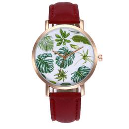 $enCountryForm.capitalKeyWord UK - Fashion high quality ZLF-00206 Women's Gold Shell Tropical Leaf Quartz Watch Fashionable Popular Nice Sweety Gift
