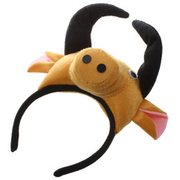Cow Masks Australia - 3D Cow Ox Headband Animal Farm Adult Children Costume Mask Maskenball