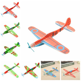 Discount toy airplanes fly - Children Magic Flying Gliders Aircraft Plane Hand Throw Foam Back Airplane Kids DIY Educational Aviation Model Toys Nove