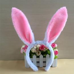 En gros Creative bibelots mignons Pâques enfants oreilles de lapin serre-tête cerceau paillettes lapin de Pâques en peluche lapin animaux coiffe les accessoires