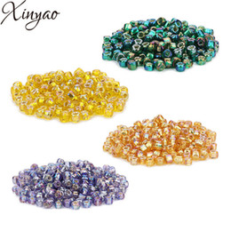 Wholesale XINYAO 2018 New 450pcs AB Color Glass Beads Czech Seed Beads Glass Loose Spacer Beads For Jewelry Makings Perles Berloque F7533