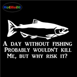 China Wholesale Funny Fishing Sticker Fish Lure Fly Reel Personality Fashion Car Stickers Motorcycle Decals cheap lure bodies wholesale suppliers