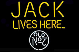 """Chinese  NEON SIGN For JACK Lives Here No.7 LOGO Signboard REAL GLASS BEER BAR PUB display outdoor Light Signs 17*14"""" manufacturers"""