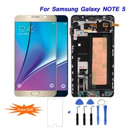 Discount samsung note screen digitizer - For SAMSUNG Galaxy Note 5 Touch Screen Display Digitizer Assembly Best Display Touch Screen for SAMSUNG N9200 N920T N920