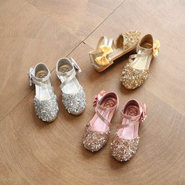 Kids party shoes size online shopping - baby girl leather princess shoes  children summer sequin shoes 86caa80242df