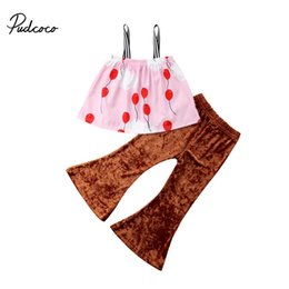 $enCountryForm.capitalKeyWord Australia - Pudcoco Fashion Baby Kids Girl Clothes Set Floral Print Sleeveless Sling T-shirt Top Long Flare Velvet Pants Summer Outfit Suit