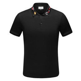 Wholesale polo casual shirts for sale – custom 2020 Fashion polos t shirt men Casual t shirt Embroidered Medusa Cotton polo Shirt High street collar Polos shirts