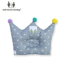 protection baby 2018 - Cotton Baby Pillow Crown Infants Shaping Pillow Cartoon Toddler Newborn Positioner Anti Roll Cushion Flat Bebes Head Pro