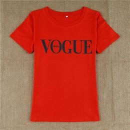 Vogue seoul impressão t shirt 2017 verão moda feminina t-shirt harajuku manga curta casual tees tops vermelho preto branco venda por atacado