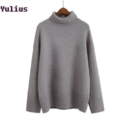 50dce6ecf5a Angora Velvet Knitted And Pullovers Women Sweater 2018 Autumn Winter Casual  Turtleneck long sleeve Loose Female sweater Warm