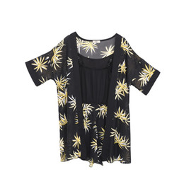 $enCountryForm.capitalKeyWord NZ - Fashion new printed chiffon two-piece jumpsuit xl-4xl plus size women