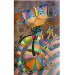 $enCountryForm.capitalKeyWord NZ - New 5D DIY Diamond Embroidery Paintings Dance Cat Diamond Painting Cross Stitch Kit European Home Decor Diamond Mosaic Crafts