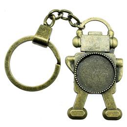 $enCountryForm.capitalKeyWord NZ - 6 Pieces Key Chain Women Key Rings Car Keychain For Keys Steampunk Robot Inner Size 20mm Round Cabochon Cameo Base Tray Bezel Blank