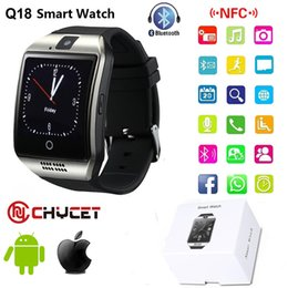 Discount message phone - Smart Watch Bluetooth Q18 Smartwatch Support NFC SIM TF Card GSM camera For smartwatch android Smart clock watch phones
